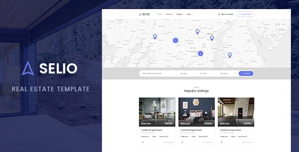 Selio — Real Estate PSD Template