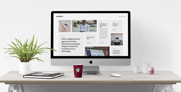 Pasadena v1.0 — Contemporary Portfolio WordPress Theme