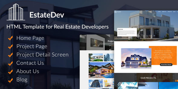 EstateDev — HTML Template for Real Estate