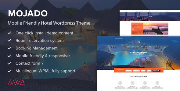Mojado v3.0.0 — Mobile Friendly Hotel WordPress Theme