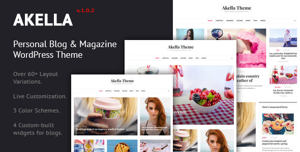 Akella v1.0.2 — Personal Blog & Magazine WordPress Theme