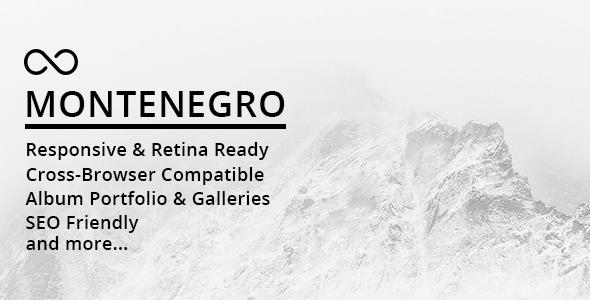 Montenegro v1.0.1 — Minimal Photography WordPress Theme