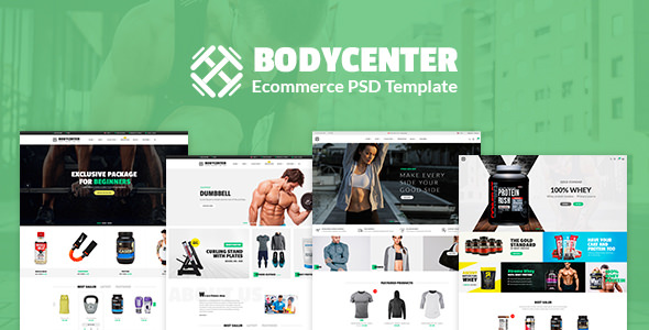 Bodycenter — eCommerce PSD Template