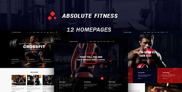 Absolute Fitness v1.0.1 — Multipurpose WordPress Theme
