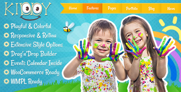 Kiddy v1.1.8 — Children WordPress theme