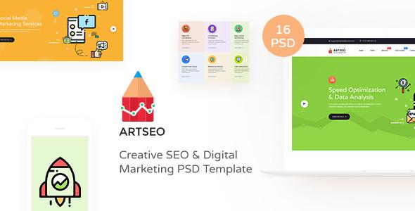 ARTSEO v1.0 — Creative Seo & Digital Marketing PSD Template