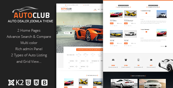 Auto Club v9.0 — Responsive Car Dealer Joomla Template