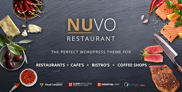 NUVO v6.0.9 — Restaurant, Cafe & Bistro WordPress Theme