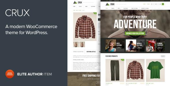 Crux v2.0.0 — Modern and lightweight WooCommerce theme
