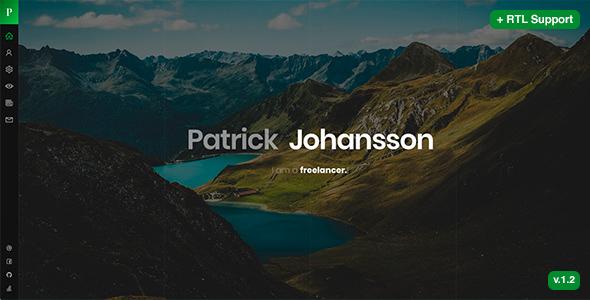 Patrick v1.2 — Personal vCard / Resume / CV Template