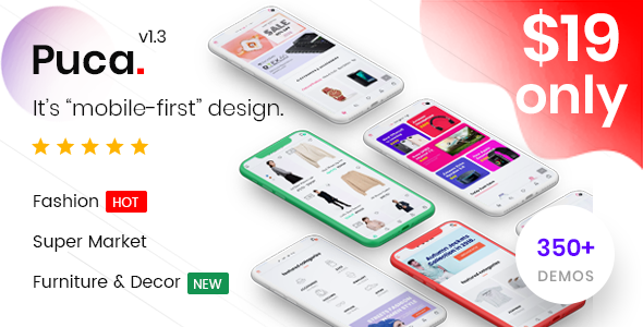 Puca v1.3.6 — Optimized Mobile WooCommerce Theme