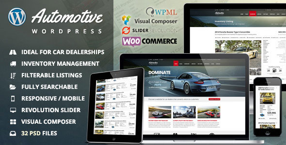 Automotive v9.4 — Car Dealership Business WordPress Theme