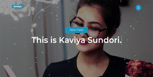 Kaviya — Portfolio HTML Template