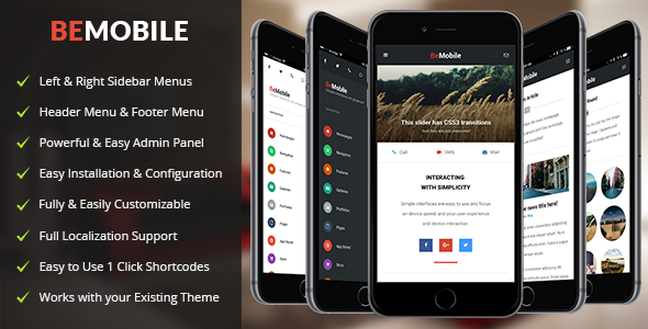 Be Mobile — Mobile and Tablet Responsive WordPress Theme (WooCommerce Ready)