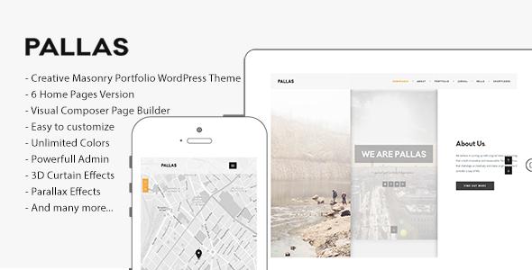 Pallas v1.8.0 — Creative Multi-Purpose WordPress Theme