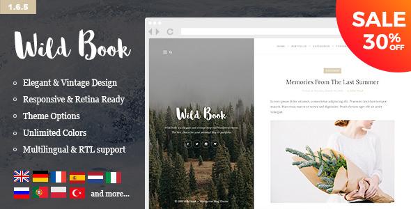 Wild Book v1.6.5 — Vintage, Elegant & Summer
