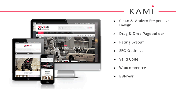 KAMI v1.8 — Creative Magazine and Blog WordPress Theme