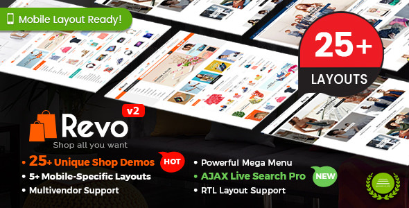 Revo v2.9.0 — Multi-purpose WooCommerce WordPress Theme