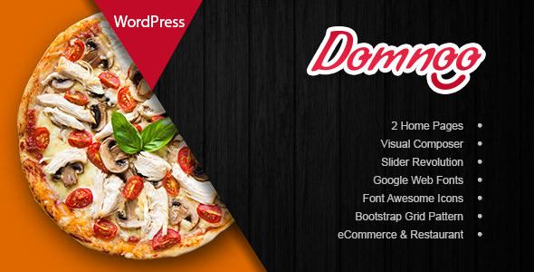 Domnoo 1.2.0 — Pizza & Restaurant WordPress Theme