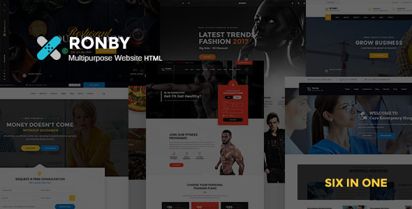 Ronby — 6 Niche Multi-Purpose HTML5 Bootstrap 3 Template