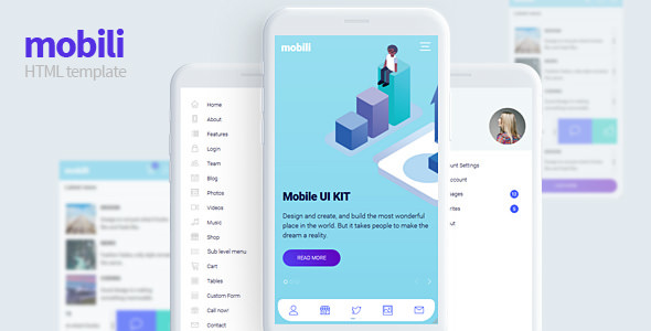 Mobili — HTML Mobile Template