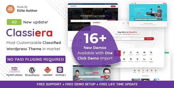 Classiera v4.0 — Classified Ads WordPress Theme