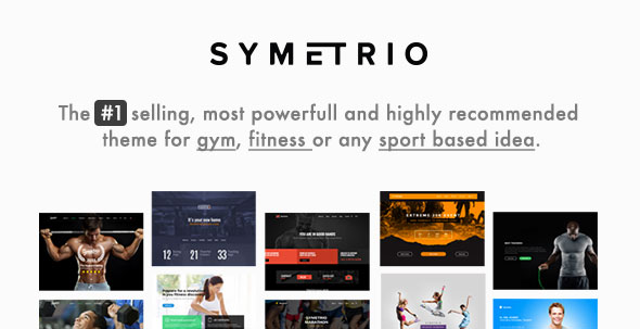 Symetrio v4.9.2 — Gym & Fitness WordPress Theme