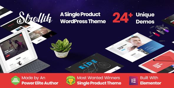 Strollik 4.0.2 — Single Product WooCommerce Theme