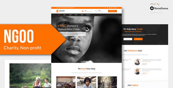 NGOO — Charity, Non-profit, and Fundraising PSD Template