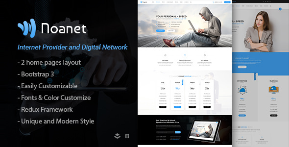 Noanet v1.3 — Internet Provider And Digital Network