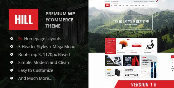HILL v1.5 — Premium Responsive WooCommerce Theme