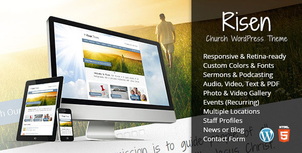 Risen v2.6 — Church WordPress Theme (Responsive)