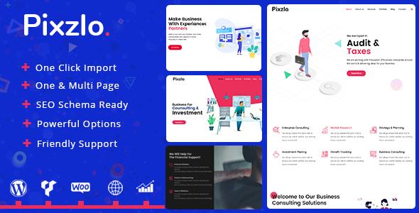 Pixzlo v1.0.1 — Creative Theme for Professionals