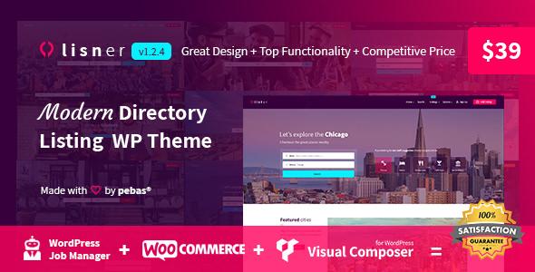 Lisner v1.2.4 — Modern Directory Listing WordPress Theme