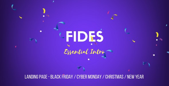 Fides — Essential Intro Landing Page Template