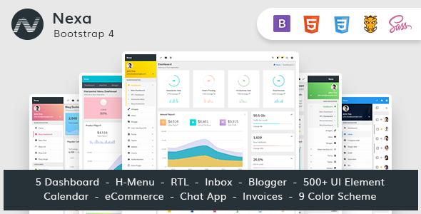 Nexa — Bootstrap4 Material Design Premium Admin Dashboard