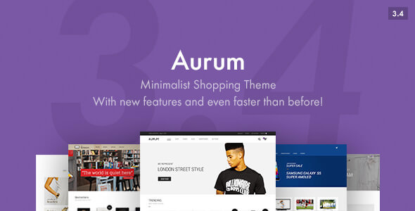 Aurum v3.4.1 — Minimalist Shopping Theme