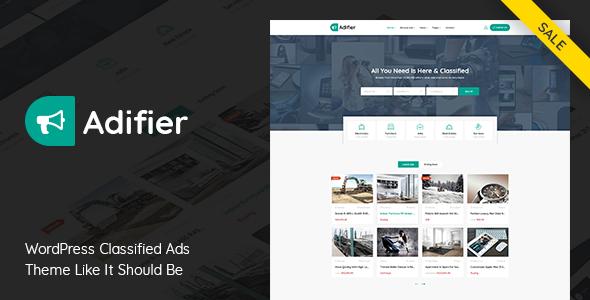 Adifier v3.6 — Classified Ads WordPress Theme