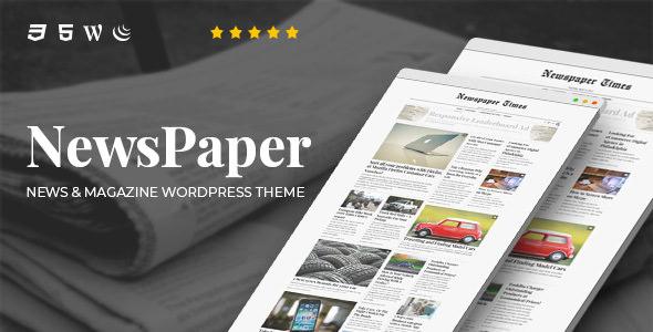 NewsPaper v3.5 — News & Magazine WordPress Theme