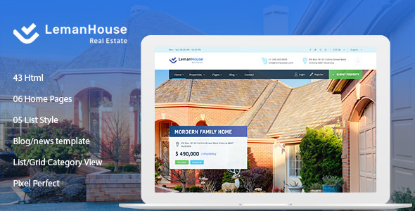 Lemanhouse — Real Estate HTML Template