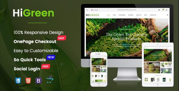 HiGreen v1.0.1 — Multipurpose OpenCart Theme for Online Shop