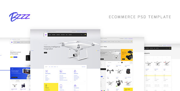 Bzzz — Gadgets eCommerce PSD Template