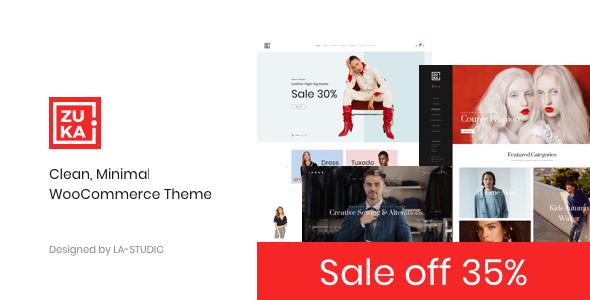 Zuka v1.0.2 — Clean, Minimal WooCommerce Theme