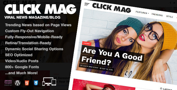 Click Mag v3.0.0 — Viral News Magazine/Blog Theme