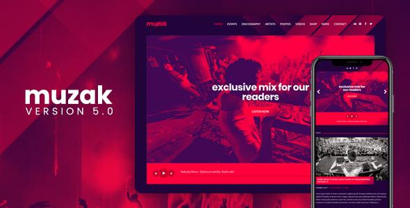 Muzak v5.3.1 — Music WordPress theme