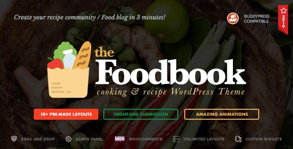 Foodbook v1.1.0 — Recipe Community, Blog & Food Theme