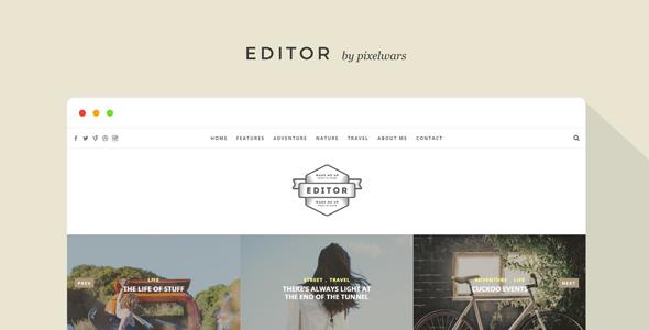 Editor v1.5.2 — A WordPress Theme for Bloggers