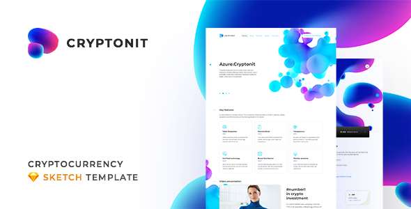 Cryptonit v1.0 — Digital Currency, ICO, Cryptocurrency Blog and Magazine, Finance Sketch Template