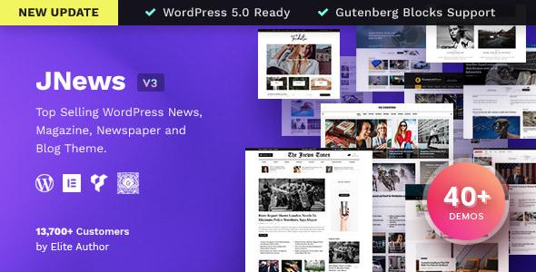 JNews v3.1.3 — Newspaper Magazine Blog AMP Theme