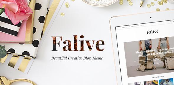 Falive v1.1.2 — Beautiful Creative & Fashion Blog Theme